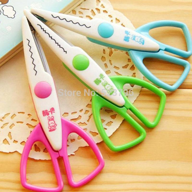 1Lot= 3 Piece Styles DIY Korea Stationery Scrapbooking Photo Scissors Paper Olfa Shears Diary Handicraft Sewing Scissors