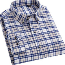 2019 Men England Style Casual Long Sleeve Plaid Shirts Camisa,Turn-down Collar Grind Pure Cotton Breathable Soft Shirts Tops girls plaid blouse 2019 spring autumn turn down collar teenager shirts cotton shirts casual clothes child kids long sleeve 4 13t