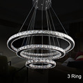mumeng LED Crystal Modern Ring Pendant Lights 3 2 1 Circle Lighting Fixture Dining Room Living Room Hanging Lamps Luxture