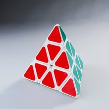 LeadingStar sticker pyramid magic cube white color hot selling for intelligence toy