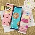 1 Unids Kawaii Creativo Lápiz de La Escuela Para Niñas Galleta de Chocolate Macaron Pu Bolso Del Lápiz Útiles Escolares Regalo de Los Cabritos
