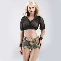 1/6 Female Clothes Soldiers Military style Combat Cool Camouflage Suit for 12 Phicen Kumik Girl Body Female Action Figure Toys