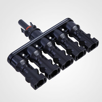 High Quality Solar Panel MC4 5 To 1 T Branch Connectors Cable Coupler Combiner Battery Terminal