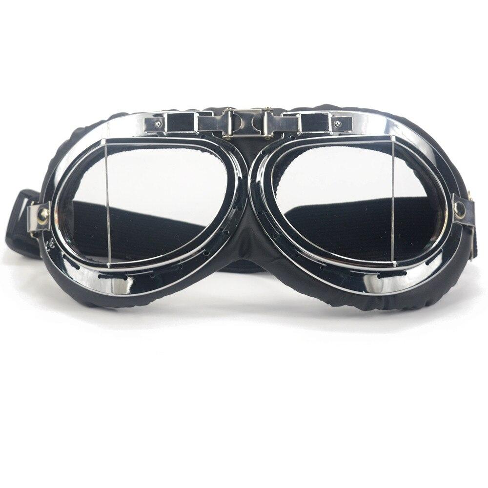 1pc Helmet Steampunk Glasses Pilot Biker Vintage Motorcycle Goggles Retro Cruiser Moto WWII Scooter Glasses
