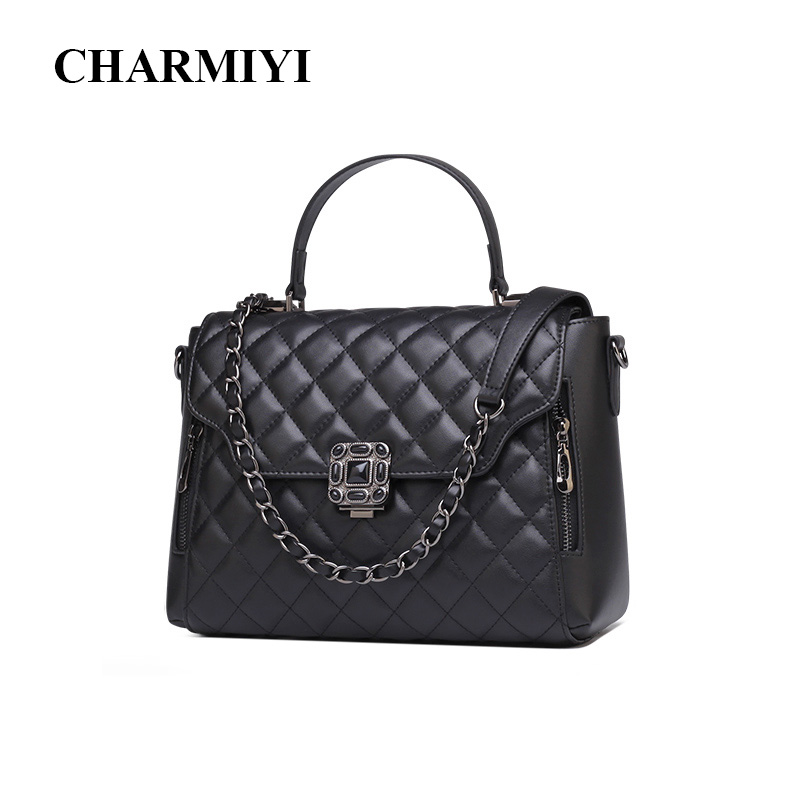 CHARMIYI 2018 Women Handbags Cowhide Leather Messenger bags Luxury Brand Lady Tote Casual Crossbody Travel bag bolsa feminina charmiyi 2018 women handbags cowhide leather messenger bags luxury brand lady tote casual crossbody travel bag bolsa feminina