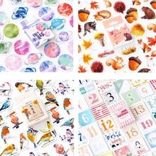 45 Pcs/box Vintage mini paper sticker DIY decoration stickers diary photo album scrapbooking planner label