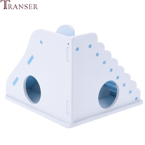 Image 4 - Transer Small Pet Hamster Toys Entertainment Sport House Hamster Wooden Toy Ladder Slide Small Animals Supply 90610