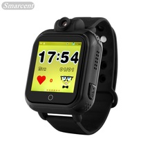 Q100 plus 3g tarjeta sim pantalla táctil smart watch para niños GPS Rastreador Smartwatch para IOS y Android PK Q90 Q80 Inteligente reloj