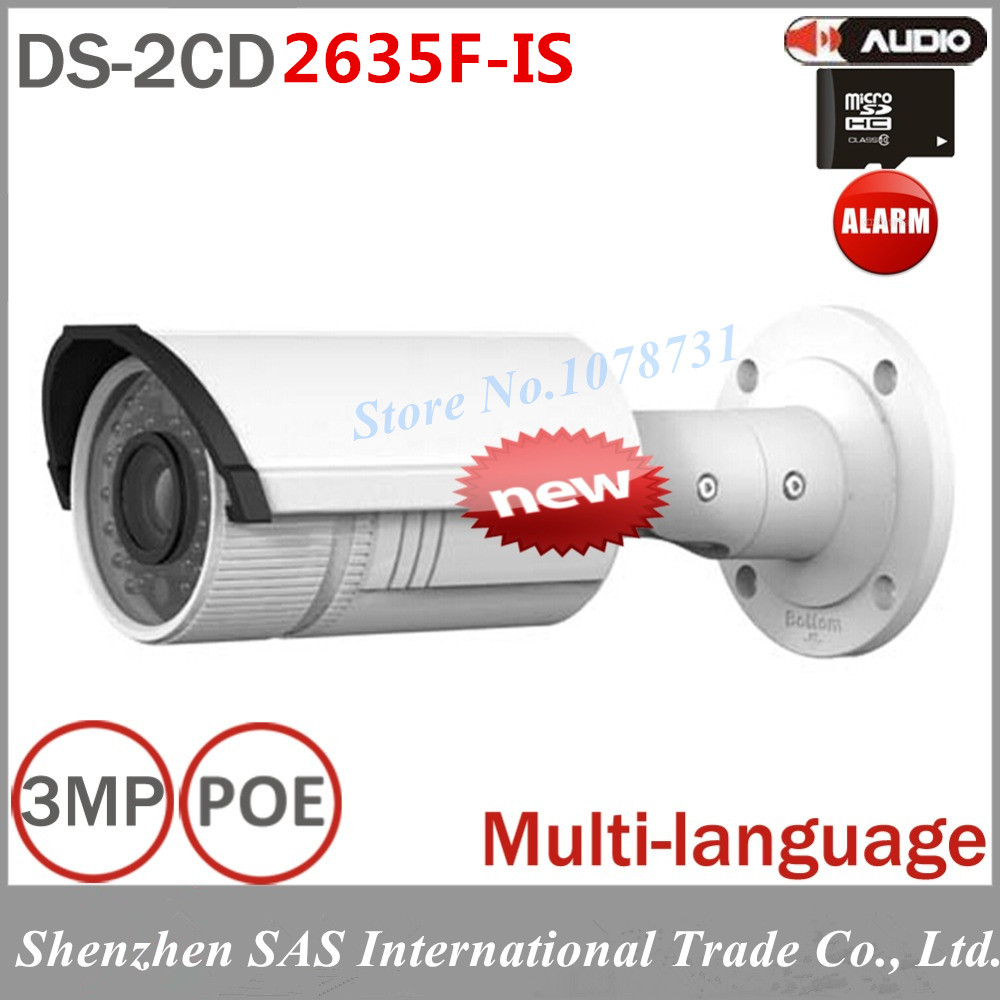 3MP Surveillance font b Camera b font DS 2CD2635F IS Vari focal IR IP Bullet font