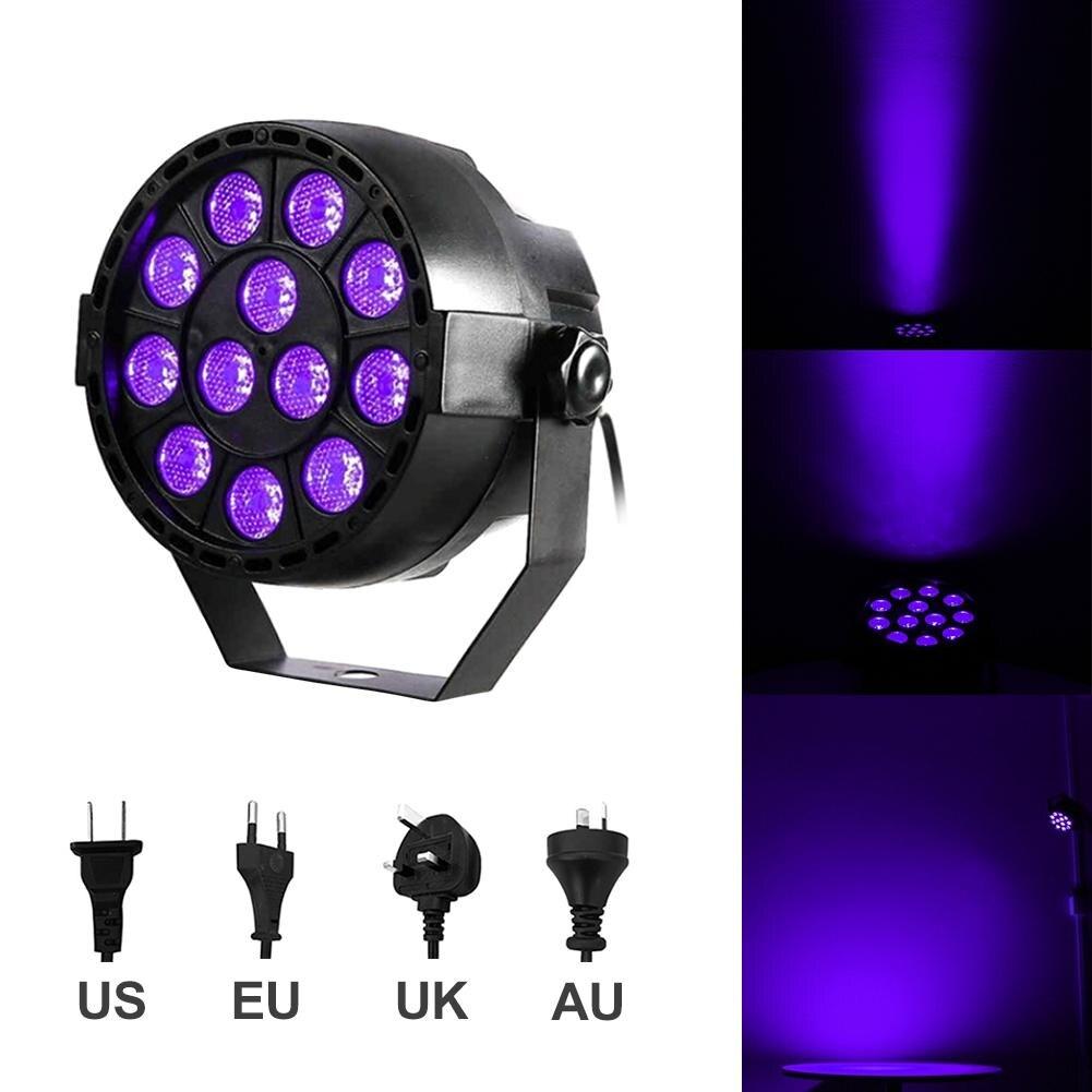LED Stage Light Effect 12x12W Ultraviolet Color Flat Par DMX512 DJ Disco Lamp KTV Bar Party Backlight Beam Projector Spotlight40 женское платье ss 7787 2014