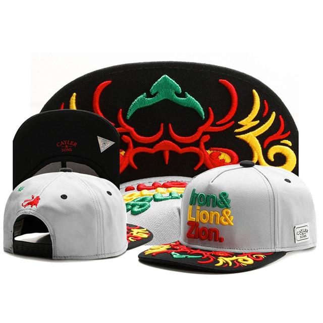 e5fe1476 Iron Lion Zion Fashion Letter CAYLER & SONS snapback hats for men women  cotton baseball caps gorras Summer Style hip hop cap
