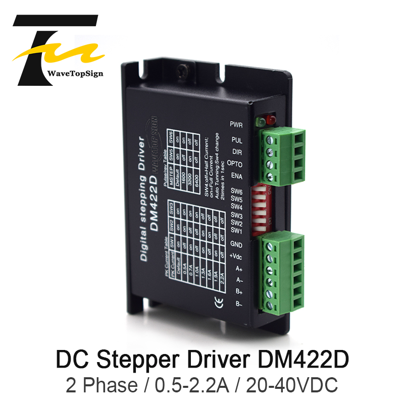 Free shipping Wavetopsign 2Phase Stepper Motor Driver DM422D Input Voltage DC 20-40V Current 0.5-2.2A Match with the Motor 42Free shipping Wavetopsign 2Phase Stepper Motor Driver DM422D Input Voltage DC 20-40V Current 0.5-2.2A Match with the Motor 42