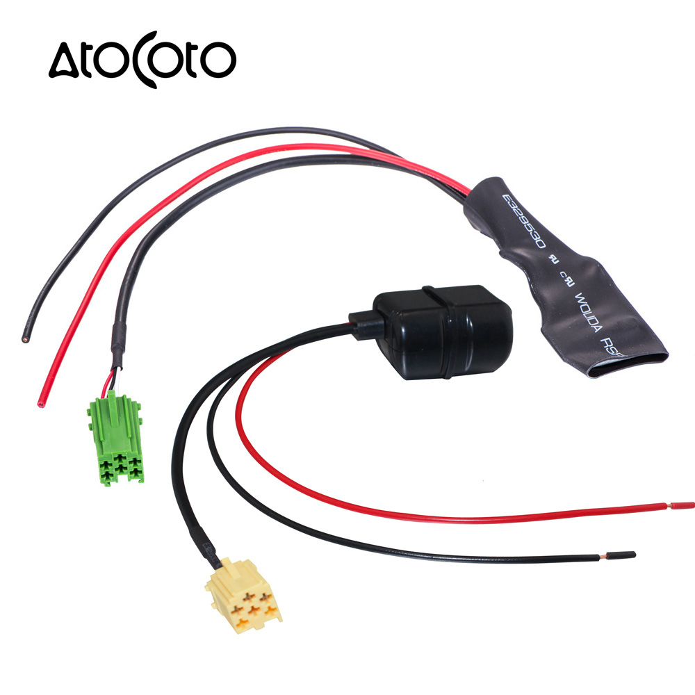 Bluetooth Module Adapter Aux Cable For Vw Rcd510 Rcd310: Car Bluetooth Module For Renault VW Radio Stereo Aux Cable