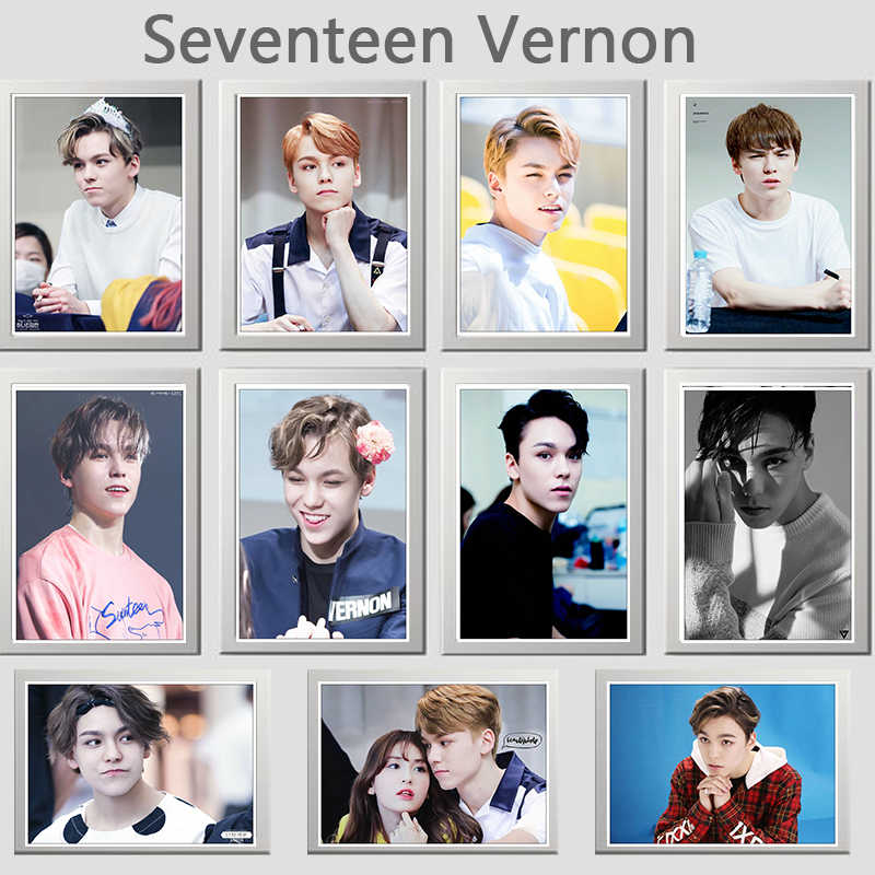 Detail Feedback Questions about Seventeen Vernon photo star Coated
