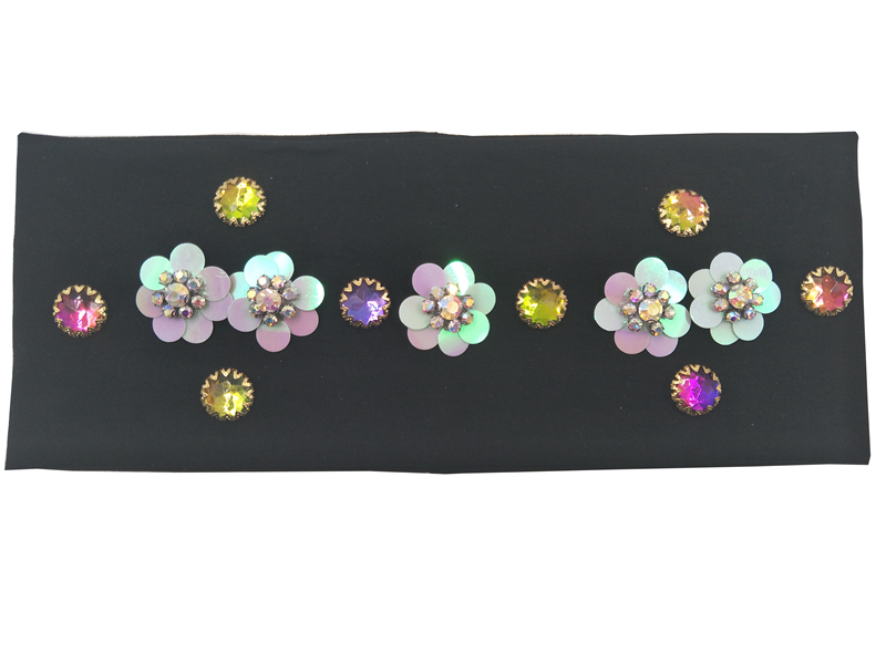 Aliexpress.com   Buy P17267 fashion newest spring band mix colors crystal decoration  plain shimmer sequin flower hair fascinators for women hair band from ... af4b5c7e72e