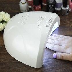 SUNUV SUNone 48 واط مصباح LED احترافي للأظافر مصباح UV مجفف أظافر علاج أظافر جل مصباح