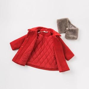 Image 3 - DB8680 dave bella baby wol jas chidlren mode jas met sjaal baby peuter boutique bovenkleding