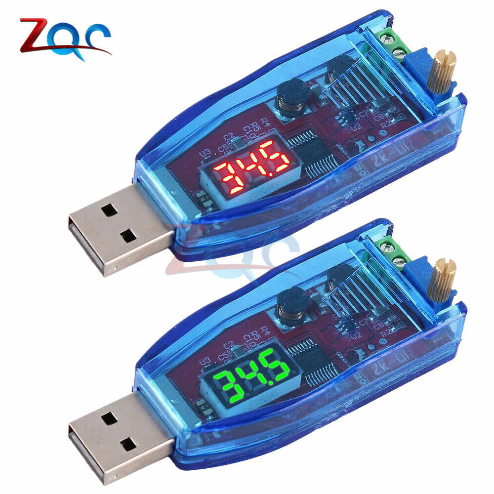 DC-DC 5V naar 3.3V 9V 12V 24V USB Step UP Step Down Power Supply Module verstelbare Boost Buck Converter DC 1.0 V-24 V Met Case