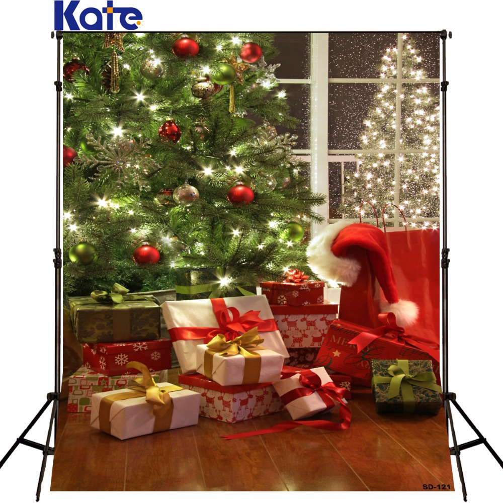 Kate Christmas backdrop photography chromakey tree Fond De photo Studio  Holiday Gift  Christmas Backdrops Photography Sd-121 a backdrop christmas backgrounds new year noel golden tree gift ball xmas photocall vintage fond newborns