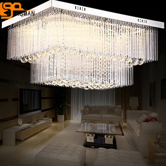 Neue design große kronleuchter leuchten lustre de cristal LED licht ...