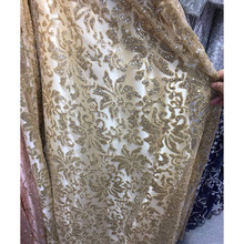 Hot sale pure color design Full Glued Glitter Sequins Nigerian Mesh Lace ZP2,Free Shipping Good Quality French Net Fabric