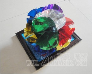 free shipping,high quality opposed bouquet picture frame guelder opposed flower,close up magic,magic props,magic tricks