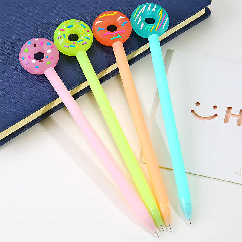 Korean Cute Kawaii Donuts Gel Kawai Candy Color Stationery School Office Store Supply Accessory Thing Writing Stationary 0.38mm