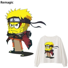 Squarepants Naruto Cosplay DIY Heat Transfer Patches for Clothing Applique Baby Clothes Decoration Cute Animal Iron on
