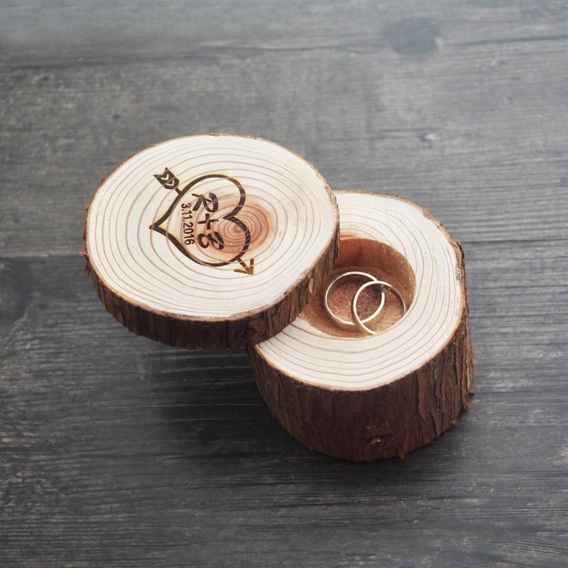 buy wedding ring bearer box wedding ring box rustic ring box wood wedding. Black Bedroom Furniture Sets. Home Design Ideas