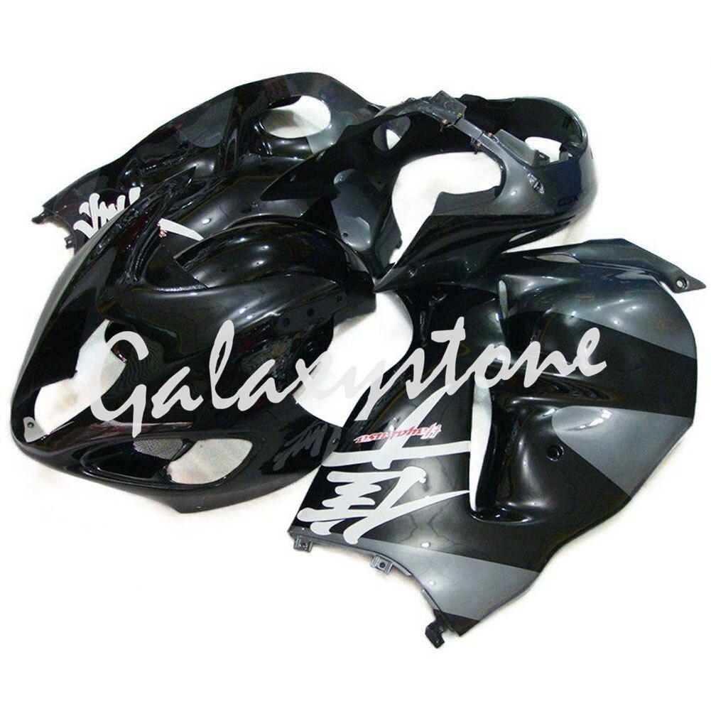 Fits Suzuki Hayabusa GSXR1300 97 07 ABS Molding Fairing Bodywork Black+Gray