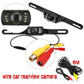 Universal Waterproof Car License Plate Rear View Video Backup Camera with 7 LED Night Vision Color Black