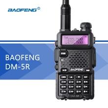 DSP DM-5R DMR Walkie Talkie de Doble Banda Baofeng UV5R Digital Radio 128CH VOX Linterna de Radio de Jamón Portátil 2000 mAh Dos vías de Radio