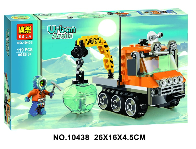 Models building kits 10438 119pcs City Arctic Ice Crawler Truck Crane Building Blocks