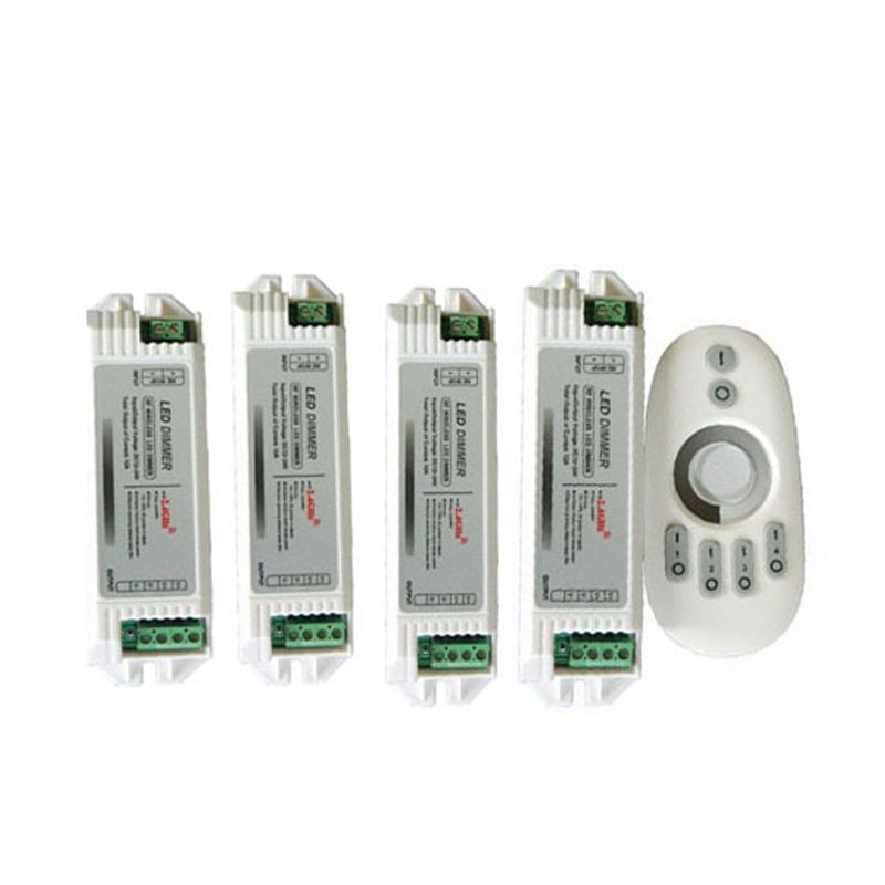 1X New design 2 4G 4 zone touch LED dimmer controller 1PCS LED controller 4PCS LED