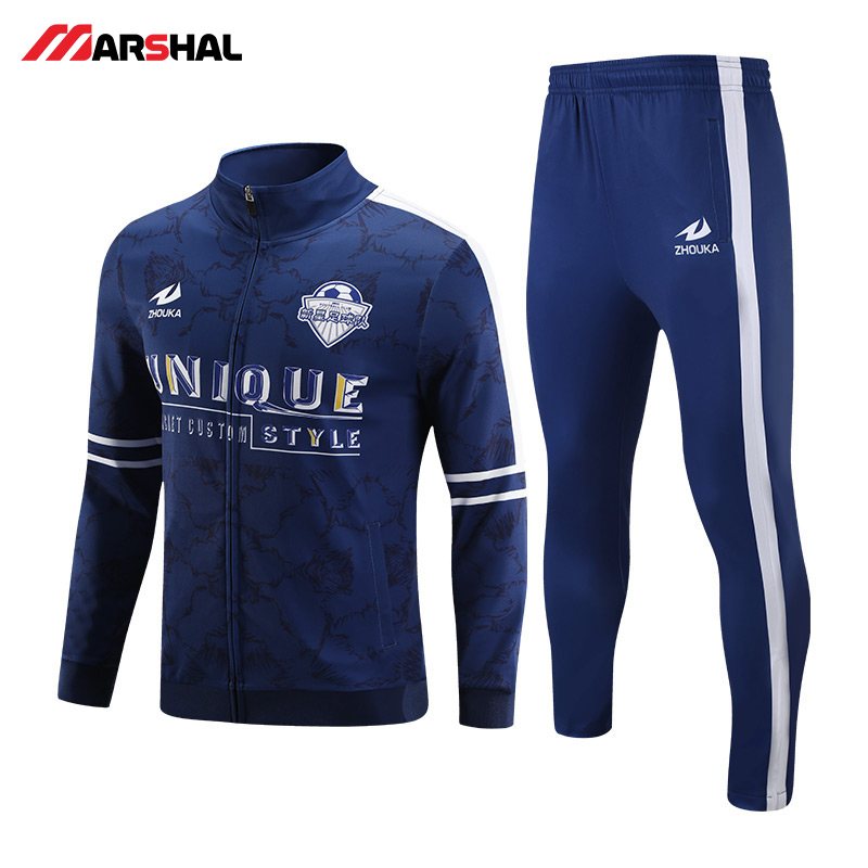 wholesales for custom made gym crew neck sports football tracksuit for mens