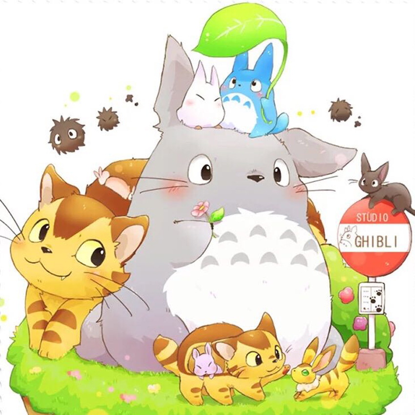 5D Diy Diamond Painting The Totoro And Friends Full Diamond Embroidery Anime Kids Room Decoration Gift For Family Cartoon Pa9175D Diy Diamond Painting The Totoro And Friends Full Diamond Embroidery Anime Kids Room Decoration Gift For Family Cartoon Pa917