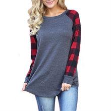 Женские повседневные футболки с длинным рукавом s 5xl топы размера