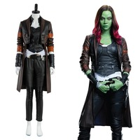 Guardians Of The Galaxy 2 Gamora Uniform Cosplay Costume Full Set Any Size Without Boot Adult