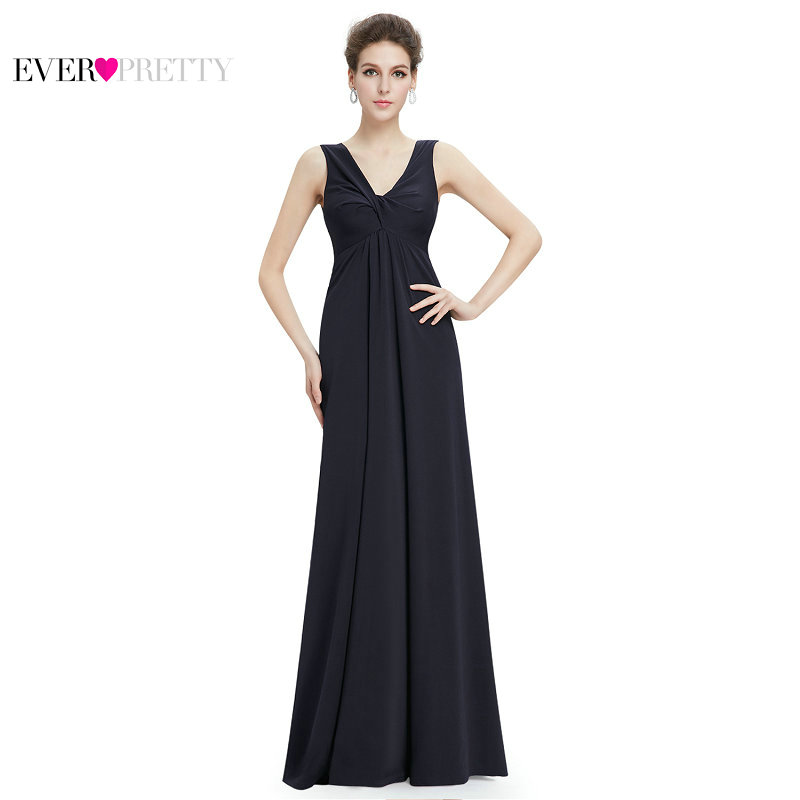 [Clearance Sale] Ever Pretty Women Elegant Evening Dresses Sexy V-Neck Chiffon A Line Backless Casual Long Party Prom Dress