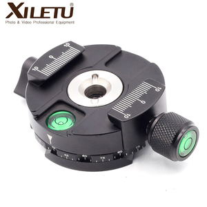 Image 2 - XILETU XPC 60C 360 Degree Panoramic Clamp Aluminum Alloy Adapter Quick Release Plate Tripod DSLR Photography Accessory