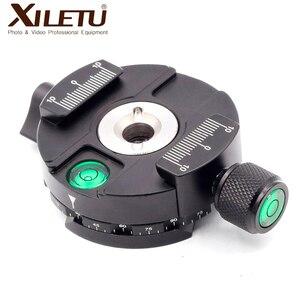Image 2 - XILETU XPC 60C 360 درجة بانورامية المشبك سبائك الألومنيوم محول الإفراج السريع لوحة ترايبود DSLR التصوير الملحقات