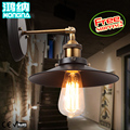 American style wall lamp bed-lighting vintage iron entrance stair lamp
