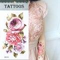 Горячая 3D татуировки одноразовый временные татуировки Рука цветок татуировки водонепроницаемый женский боди-арт татуировки модель