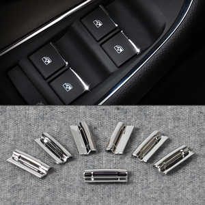 beler New 7Pcs Chrome Door Window Switch Lift Button Cover Trim For Chevrolet Cruze 2009-2014 For Chevrolet Malibu 2012-2014(China)
