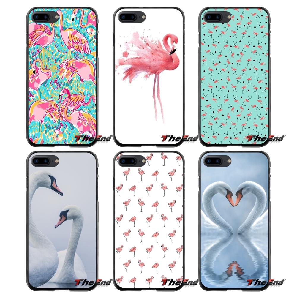 For Apple iPhone 4 4S 5 5S 5C SE 6 6S 7 8 Plus X iPod Touch 4 5 6 Pretty Swan Printed Accessories Phone Cases Covers