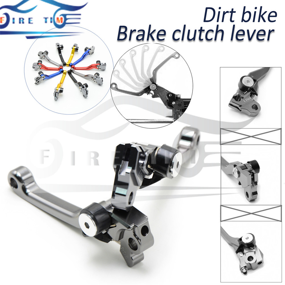 ФОТО dirt bike cnc clutch brake lever titanium motorbike brake clutch levers FOR KAWASAKI KLX250 D.TRACKER 250 08 2009 2010 2011 2012
