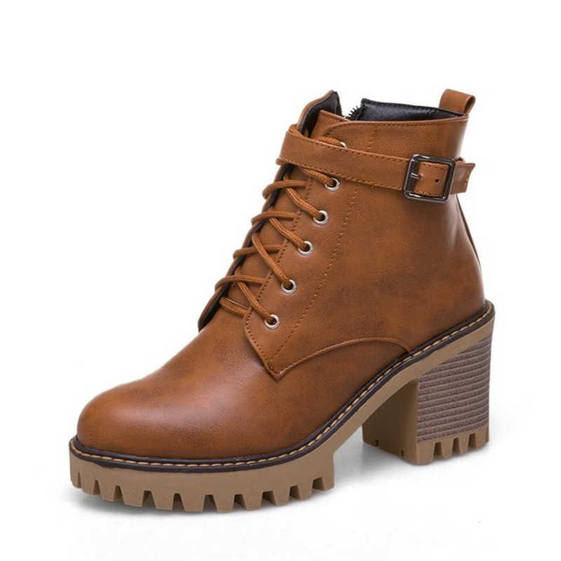 JIANBUDAN marka tasarım sonbahar kadın yüksek topuk çizmeler pu deri fermuar motosiklet botları Kış peluş sıcak kar botları 34-43