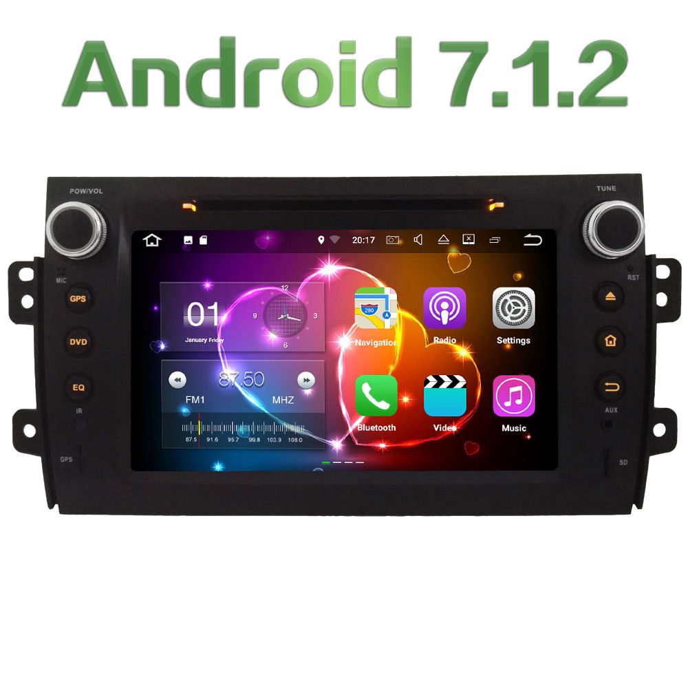 2GB RAM 4G Wifi 8 Android 7 1 2 SWC DAB RDS Car DVD Multimedia Player