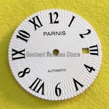 31,5 мм Parnis белый циферблат подходит miyota 8205 8215 821A mingzhu 2813 автоматическое движение A906