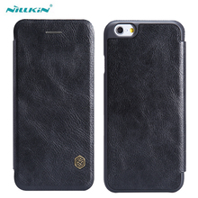 цена на for iphone 6 4.7 6s plus Leather Case Nillkin Qin Series Flip Leather Cases Fundas for Apple iPhone 6 6 Plus Mobile Phone Covers